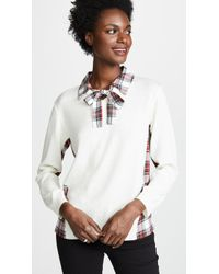 Boutique Moschino - Contrast Collared Blouse - Lyst