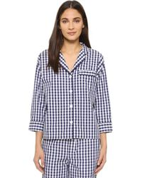Sleepy Jones | Gingham Marina Pajama Shirt | Lyst