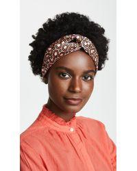 Tory Burch - Octagon Printed Silk Headband - Lyst