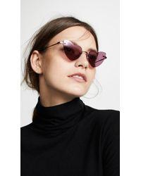 Saint Laurent - Sl 254 Rimless Lou Lou Sunglasses - Lyst