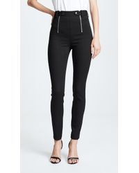 T By Alexander Wang - Panelled Body Con Trousers - Lyst