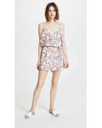 f9af5165537 Cupcakes And Cashmere Floral Coralia Romper in White - Lyst