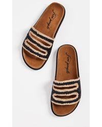 Free People - Crete Footbed Slides - Lyst