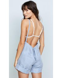 Mara Hoffman - Light Denim Dree Romper - Lyst