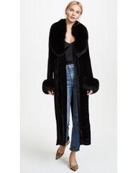 ThePerfext - Velvet And Fur Coat - Lyst