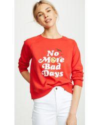 Rebecca Minkoff - No Bad Days Sweatshirt - Lyst