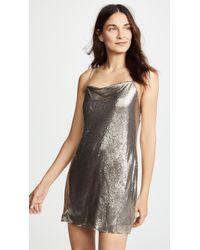 Alice + Olivia - Harmony Chainmail Mini Slip Dress - Lyst