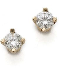 Gabriela Artigas - White Diamond Stud Earrings - Lyst