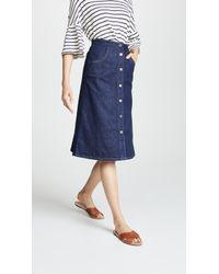 M.i.h Jeans - Calicot Denim Skirt - Lyst