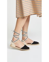 Soludos - Classic Ankle Tie Espadrille Flats - Lyst