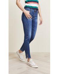 AG Jeans - Farrah Skinny Ankle With Outside Side Slit - Lyst