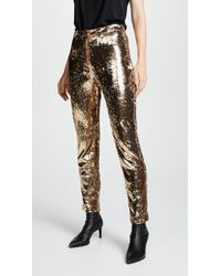 MILLY - Sequins Trousers - Lyst