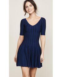 Cushnie et Ochs - Elizabetta Two Tone Knit Dress - Lyst