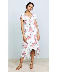 MINKPINK - Pretty Petals Wrap Front Dress - Lyst