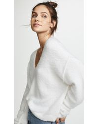 Free People - Princess V Neck Sweater - Lyst