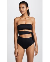 Proenza Schouler - One Piece Bandeau With Side Tie - Lyst