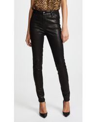 J Brand - Maria High Rise Leather Trousers - Lyst