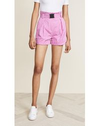 N°21 - Checked Shorts - Lyst