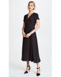 Jenni Kayne - Dot Charmeuse Wrap Dress - Lyst