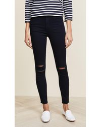 J Brand - High Rise Alana Crop Jeans - Lyst