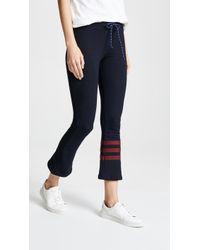 Sundry - Stripes Kick Flare Pant - Lyst