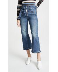 Veronica Beard - Marlene Corset Straight Leg Jeans - Lyst