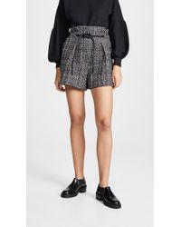 3.1 Phillip Lim - Textured Tweed Shorts - Lyst