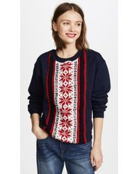 Michaela Buerger - Stripe Snowflake Sweatshirt - Lyst