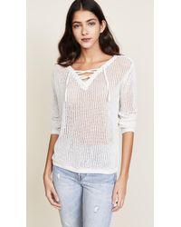 BB Dakota - Lily Lace Up Sweater - Lyst