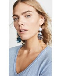 5fd4af451cb Isabel Marant Chrysocolla Stone Earrings in Blue - Lyst