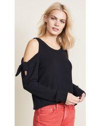 BB Dakota - Cold Shoulder Tie Sweater - Lyst