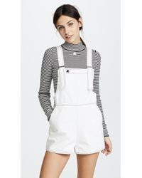 Courreges - Denim Overall Shorts - Lyst