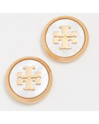 Tory Burch - Semi Precious Stud Earrings - Lyst