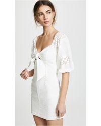 Suboo - Blanca Tie Front Mini Dress - Lyst