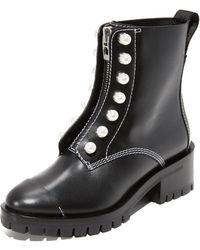 3.1 Phillip Lim - Hayett Lug Sole Pearl Boots - Lyst