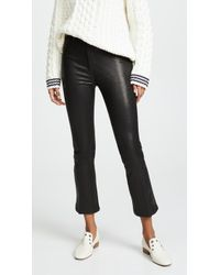 Joe's Jeans - The Cropped Bootcut Leather Trousers - Lyst