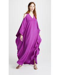 Roberto Cavalli - V Neck Cold Shoulder Dress - Lyst