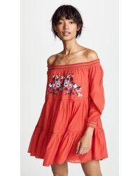 Free People - Sunbeams Mini Dress - Lyst