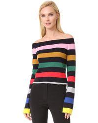 Goen.J - Striped Knit Top - Lyst