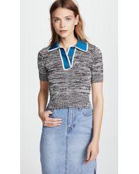 N°21 - Collared Knitwear Top - Lyst