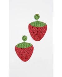 Kenneth Jay Lane | Strawberry Drop Earrings | Lyst
