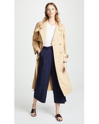 Vince - Long Trench Coat - Lyst