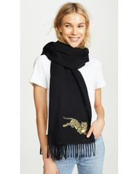 KENZO - Jumping Tiger Stole Scarf - Lyst