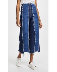 Rejina Pyo - Bella Cropped Distressed High-rise Wide-leg Jeans - Lyst
