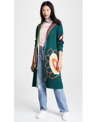 Mira Mikati - Knit Flower Coat - Lyst