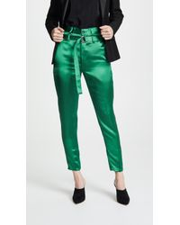 Robert Rodriguez - High Waisted Satin Trousers - Lyst
