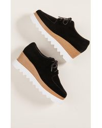 Sol Sana - Megan Wedge Velvet Oxfords - Lyst