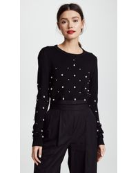 Prabal Gurung - Embroidered Crew Neck - Lyst