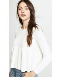 Madewell - Swingy Ribbed Pullover Jumper - Lyst