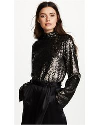 Kendall + Kylie - Sequin Mock Neck Top - Lyst